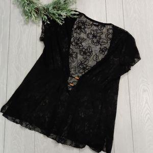 Avenue strech Hawaiian lace blouse/swim suit cover